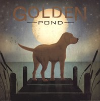 Moonrise Yellow Dog - Golden Pond Fine-Art Print
