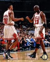 Michael Jordan & Scottie Pippen 1998 Action Fine-Art Print