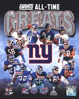 New York Giants All-Time Greats Composite Fine-Art Print