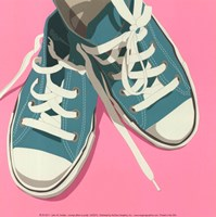 Lowtops (blue on pink) Fine-Art Print