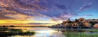 Willow Lake Spring Sunset Fine-Art Print