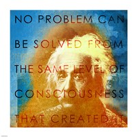 Einstein – No Problem Quote Fine-Art Print