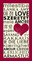 Love Around the World with Red Boarder Fine-Art Print