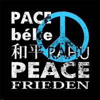 Blue Peace Square II Fine-Art Print