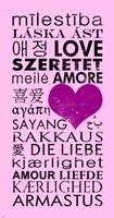 Pink Love Languages Fine-Art Print