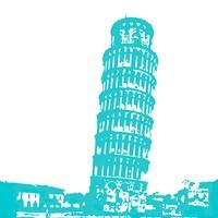 Pisa in Aqua Fine-Art Print