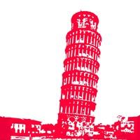 Pisa in Red Fine-Art Print