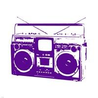 Purple Boom Box Fine-Art Print