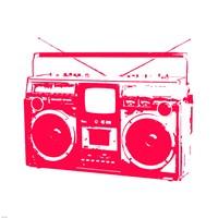 Red Boom Box Fine-Art Print
