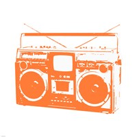 Orange Boom Box Fine-Art Print