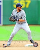 Dustin Ackley Baseball Pitching Action Fine-Art Print