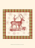 Reindeer Toile I Fine-Art Print