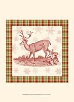 Reindeer Toile II Fine-Art Print
