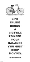 A. Einstein Bicycle Quote Fine-Art Print