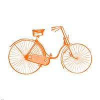 Orange On White Bicycle Fine-Art Print