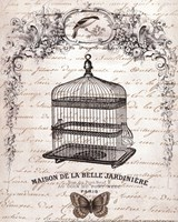 French Birdcage II - mini Fine-Art Print