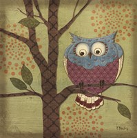 Fantasy Owls III Fine-Art Print