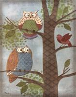 Fantasy Owls Vertical II Fine-Art Print