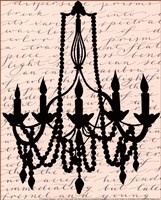 Chandelier Calligraphy I - mini Fine-Art Print