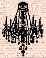 Chandelier Calligraphy II - mini Fine-Art Print