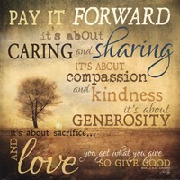 Meaning of Pay It Forward Fine-Art Print