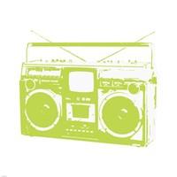 Lime Boom Box Fine-Art Print