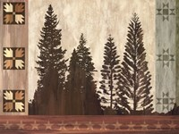 Pine Trees Lodge I Fine-Art Print