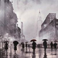 New York Red Umbrella Fine-Art Print