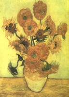 Still Life, Vase With Fifteen Sunflowers Fine-Art Print