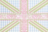 Union Jack, Blue, Green and Pink Fine-Art Print