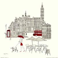 World Cafe I - London Red Fine-Art Print