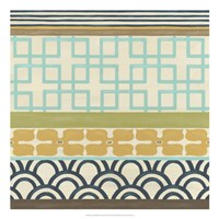 Non-Embellished Geometric Frieze III Fine-Art Print