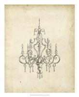 Classical Chandelier III Fine-Art Print