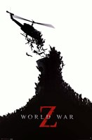 World War Z - black and white Wall Poster