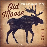 Old Moose Trading Co. Tan Fine-Art Print