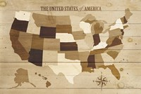USA Modern Vintage Wood Fine-Art Print