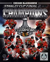 Chicago Blackhawks 2013 NHL Stanley Cup Champions Composite Fine-Art Print