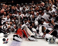 Chicago Blackhawks celebrate 2013 Stanley Cup Finals Fine-Art Print