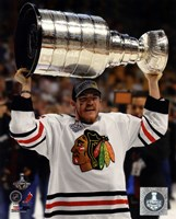 Andrew Shaw with the Stanley Cup Game 6 of the 2013 Stanley Cup Finals Fine-Art Print