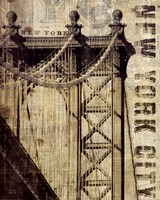 Vintage NY Manhattan Bridge Fine-Art Print