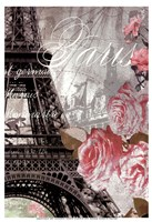 Paris in Bloom I - Mini Fine-Art Print