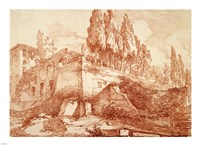 Ruins of an Imperial Palace, Rome Fine-Art Print