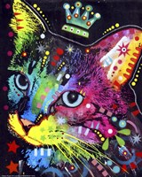 Thinking Cat Crowned Fine-Art Print