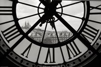 Big Clock Horizontal Black and White Fine-Art Print