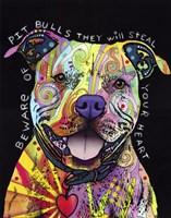 Beware of Pit Bulls Fine-Art Print