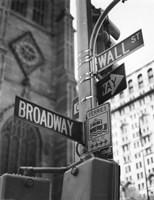 Broadway and Wall Street Fine-Art Print