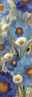 Sunkissed Blue and White Flowers I Fine-Art Print