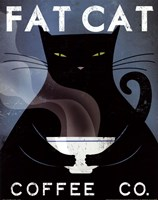 Cat Coffee no City Fine-Art Print