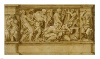 Design for a Frieze with Worshippers Bringing Sacrificial Offerings Fine-Art Print