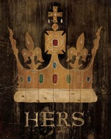 Her Majesty's Crown with word Fine-Art Print